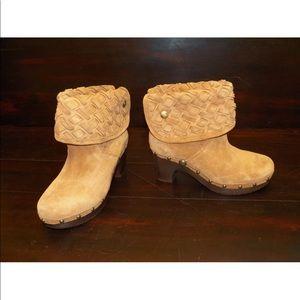 New Womens UGG Lynnea Arroyo Weave Chestnut Bootie